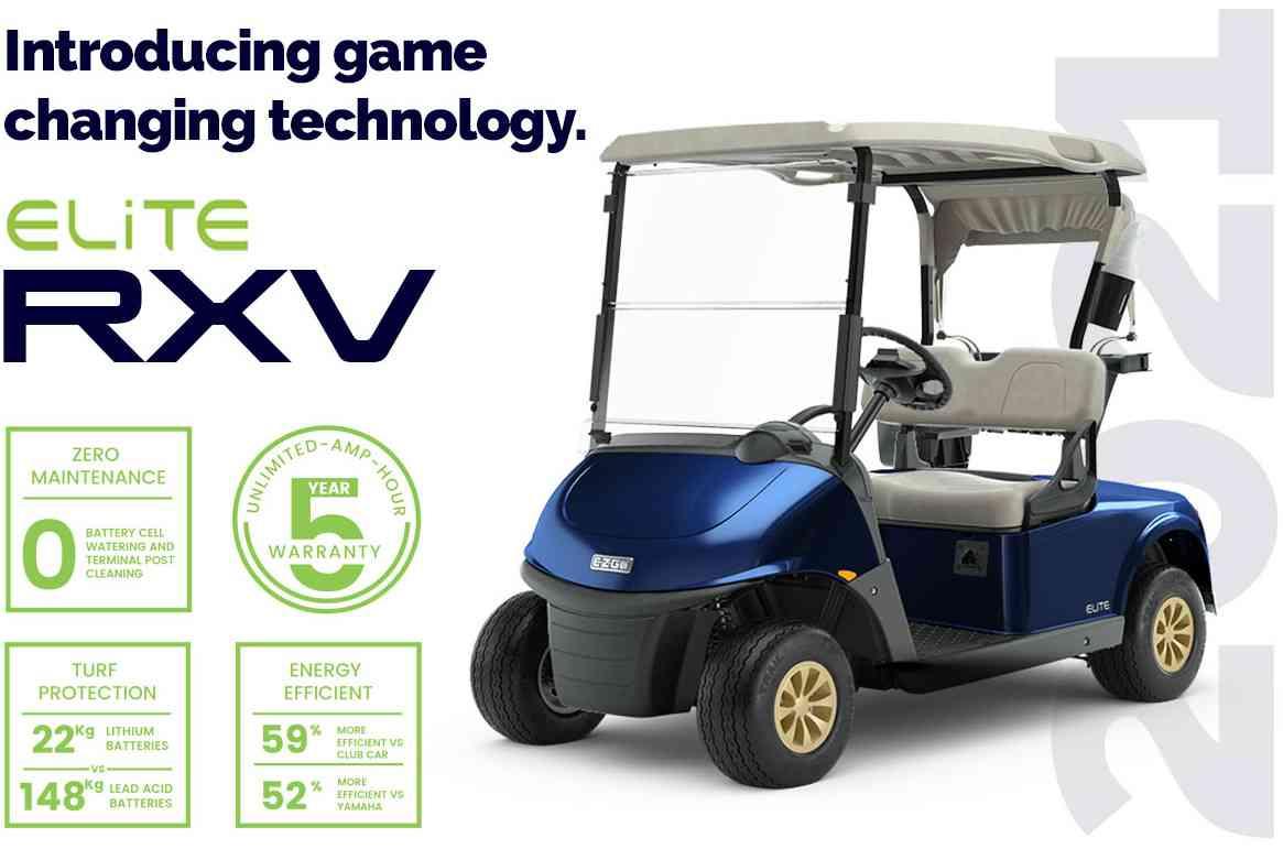 E-Z-GO RXV Elite Lithium golf buggy